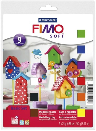 KLEI FIMO  SOFT  BASIC HALVE BLOKKEN ASS