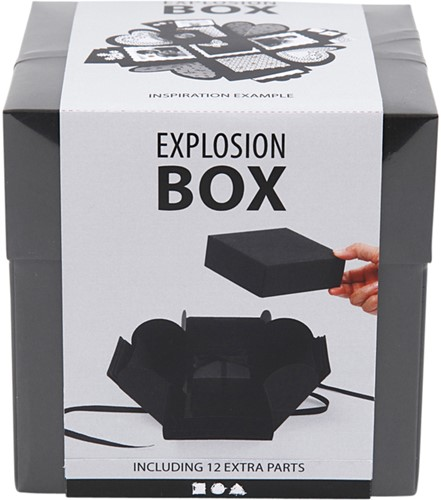 EXPLOSION BOX CREOTIME 12X12X12CM ZWART