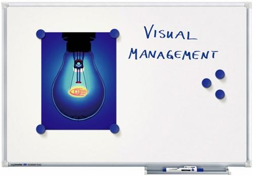 WHITEBOARD LEGAMASTER ECONOMY PLUS 90X120CM MAGNETISCH EMAILLE