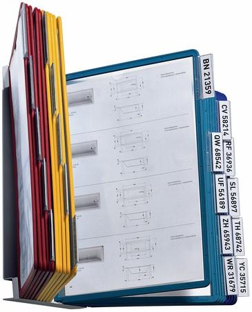 WANDELEMENT DURABLE 5512 VARIO WALL MET 20-TASSEN A4 ASSORTI