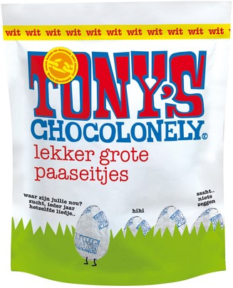 CHOCOLADE TONY'S PAASEITJES WIT ZAK À 14 STUKS