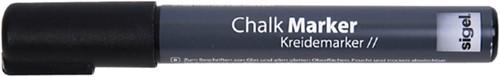 KRIJTMARKER SIGEL WHITEBOARD FLUOR ZWART 1-5MM