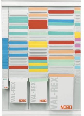 PLASTIC PLANBORD T-KAART  NR 2 48.5MM ROOD 100 STUK